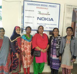 Dasarahalli Bridge School Staff   Samridhdhi Trust