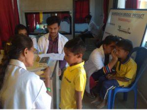 Health check in Bridge School   Samridhdhi Trust