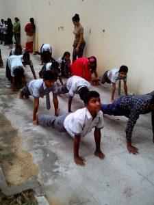 Students doing yoga | Samridhdhi Trust
