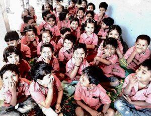 Happy students of Samridhdhi Trust