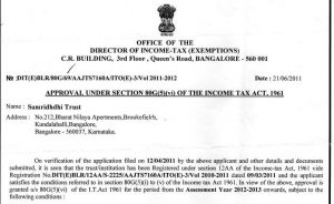 Approval under section 80G   Samridhdhi Trust