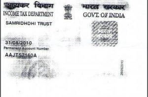 PAN Card of Samridhdhi Trust
