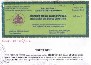 Trust Deed of Samridhdhi Trust