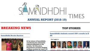Samridhdhi Trust Annual Report 2018-19