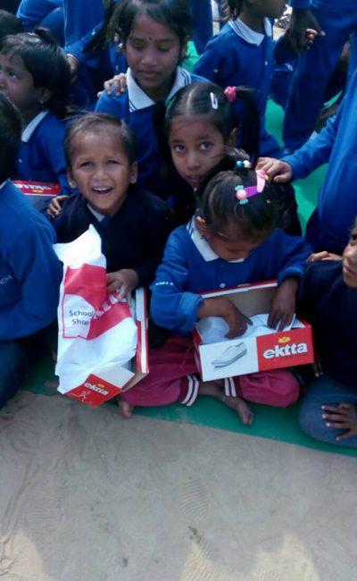 Joy of getting shoes | Samridhdhi Trust