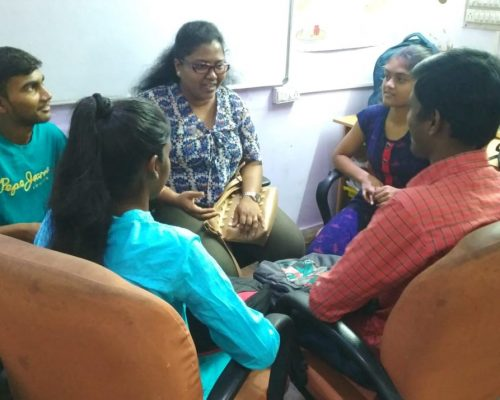 Mentoring session at the Finishing School | samridhdhi Trust